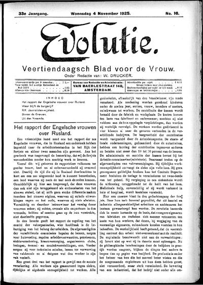 Evolutie: weekblad voor de vrouw, jaargang 33, nummer 16