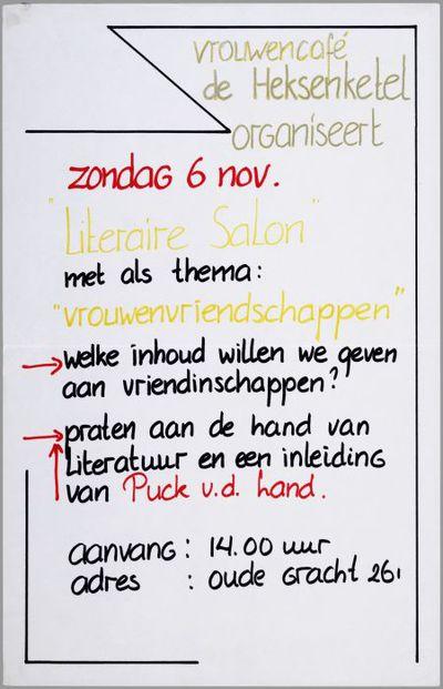 Vrouwencafé de Heksenketel organiseert Literaire Salon