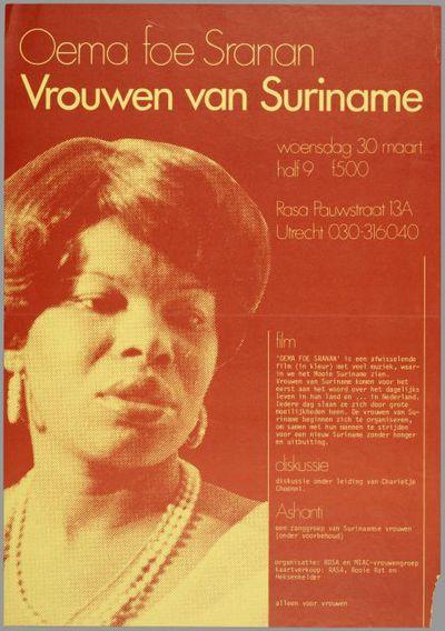 Vrouwen van Suriname, Oema foe Sraran