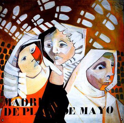 Portret. Madres de Plaza de Majo.