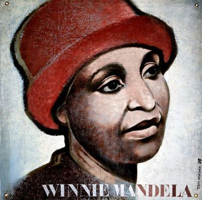 Portret. Winnie Mandela.