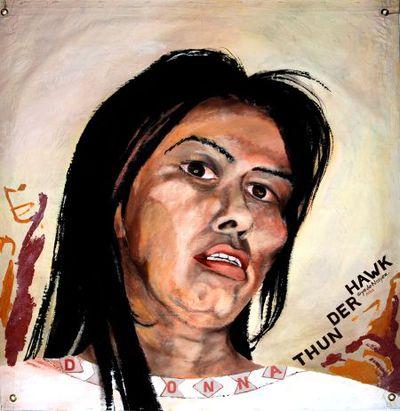 Portret. Donna Thunder Hawk.