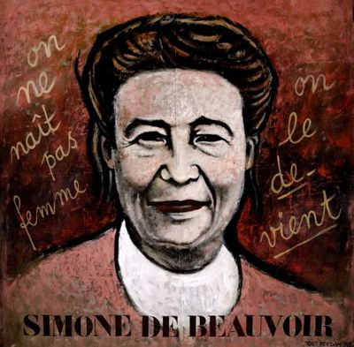Portret. Simone de Beauvoir.
