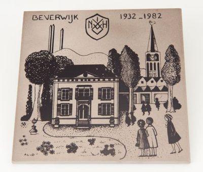 Tegel. 'Beverwijk 1932-1982 NVVH'.