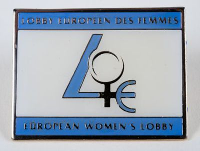 Button. 'Lobby Europeen des Femmes: European Women's Lobby'