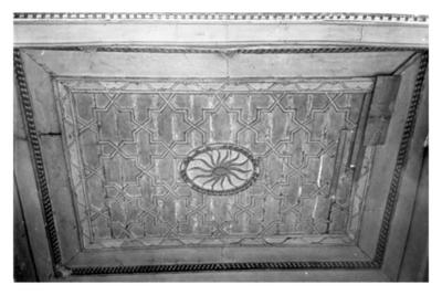 Wood carved ceiling