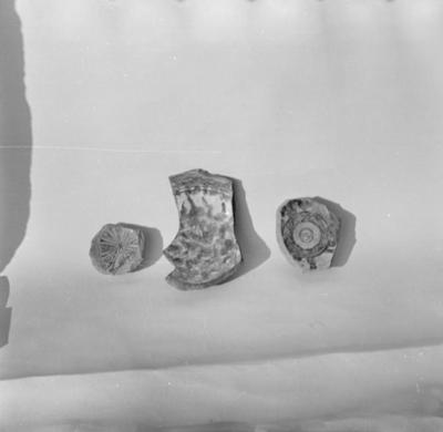Ceramic pottery fragments