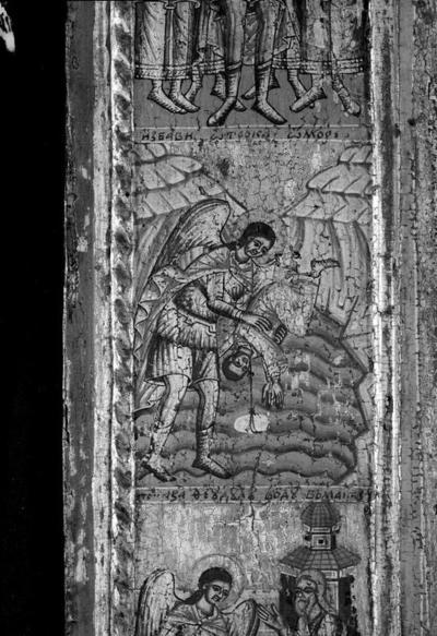 Archangel Michael with scenes of his miracles, detail