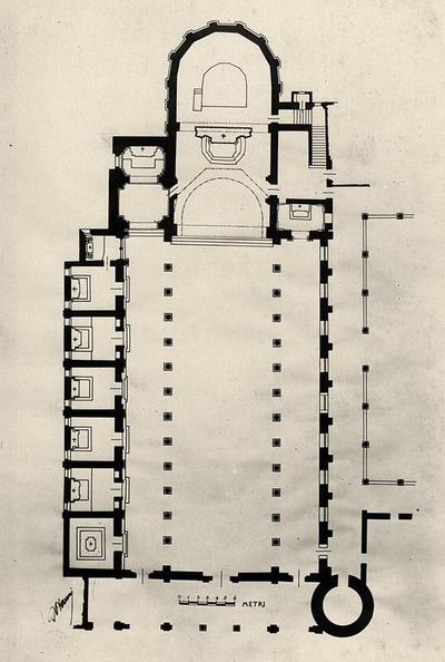 Pianta della Basilica di Sant'Apollinare Nuovo
