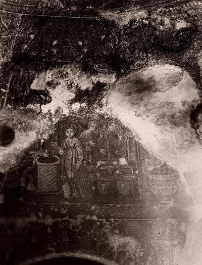 Napoli, Battistero di San Giovanni in Fonte, Cristo e la Samaritana al pozzo