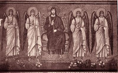 Ravenna, Basilica di Sant'Apollinare Nuovo, Cristo in trono e angeli