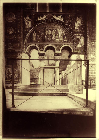 Ravenna, Basilica di San Vitale, Area presbiteriale prima del completamento della decorazione marmorea dell'abside