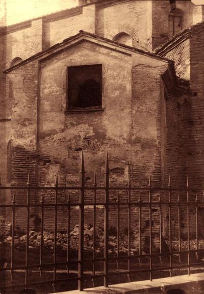 Ravenna, Basilica di San Vitale, Cappella del Sancta Sanctorum prima dei restauri