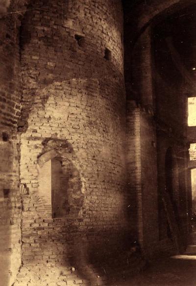 Ravenna, Basilica di San Vitale, Veduta esterna della cappella della Pietà prima della sua demolizione