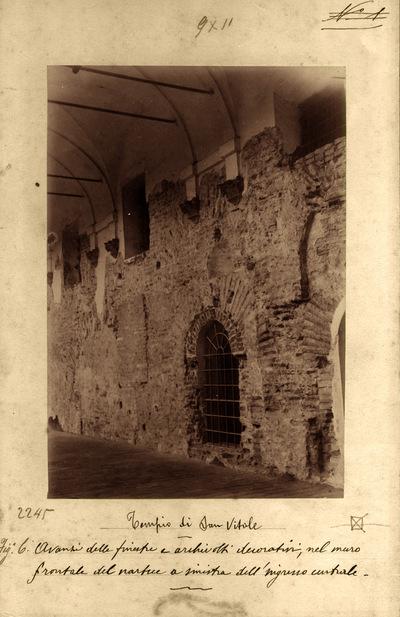 Ravenna, Basilica di San Vitale, Veduta dell'ardica prima dei restauri
