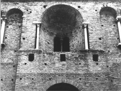 Ravenna, il cosiddetto Palazzo di Teodorico, particolare della facciata