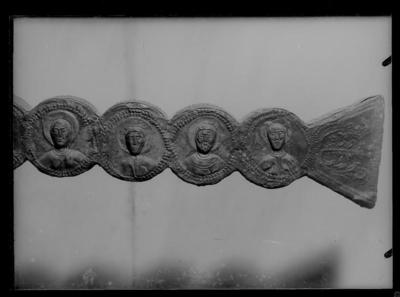 Ravenna, Museo Arcivescovile. Croce di Agnello, particolare