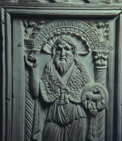 Ravenna, Museo Arcivescovile, Cattedra di Massimiano, San Giovanni Battista