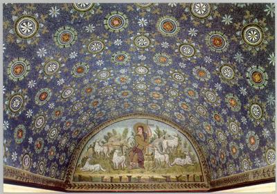 Ravenna, Mausoleo di Galla Placidia, Lunetta del Buon pastore