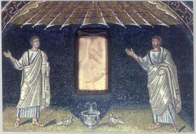 Ravenna, Mausoleo di Galla Placidia, Lunetta con apostoli