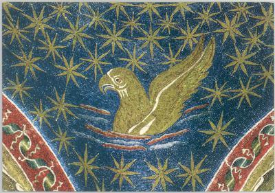 Ravenna, Mausoleo di Galla Placidia, Cupola con cielo stellato particolare