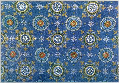 Ravenna, Mausoleo di Galla Placidia, Volta con fiori stilizzati, particolare