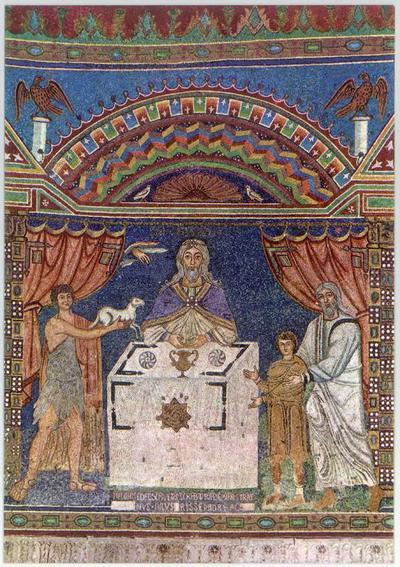 Ravenna, Basilica di Sant'Apollinare in Classe, Sacrifici di Abele, Abramo e Melchisedec