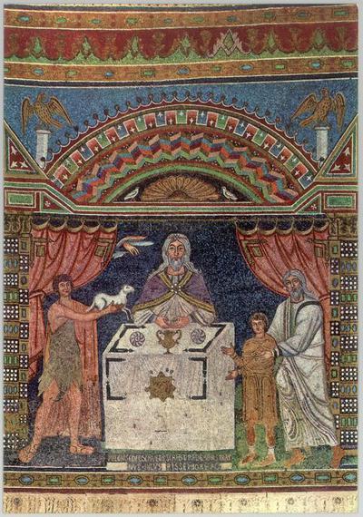 Ravenna, Basilica di Sant'Apollinare in Classe, Sacrifici di Abele, Abramo e Melchisedek