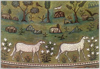 Ravenna, Basilica di Sant'Apollinare in Classe, Sant' Apollinare, particolare