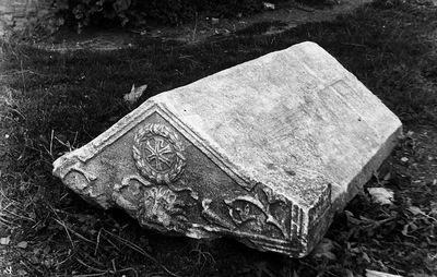 Ranchio (Sarsina), Abbazia di Sant'Ambrogio, Coperchio di sarcofago