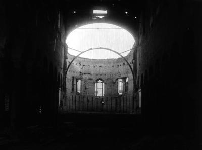 Ravenna, Basilica di San Giovanni Evangelista (durante i restauri)