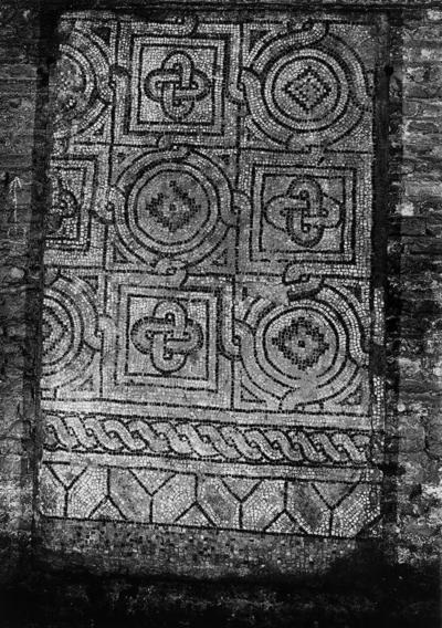 Ravenna, Cosiddetto Palazzo di Teodorico, Frammenti di mosaico pavimentale con nastri intrecciati e nodi di Salomone