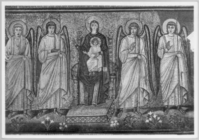 Ravenna, Basilica di Sant'Apollinare Nuovo, Vergine in trono