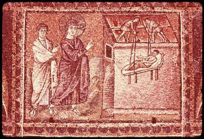 Ravenna, Basilica di Sant'Apollinare Nuovo, La guarigione del paralitico di Cafarnao