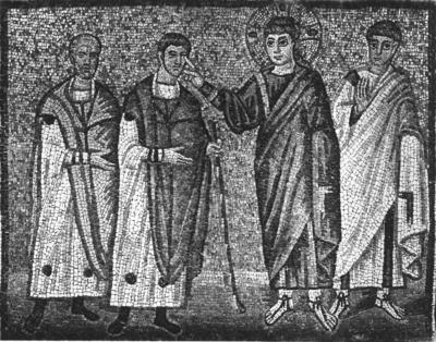 Ravenna, Basilica di Sant'Apollinare Nuovo, La guarigione dei ciechi di Gerico