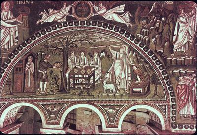 Ravenna, Basilica di San Vitale, Lunetta con episodi della vita di Abramo