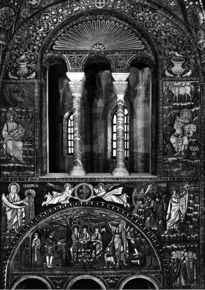 Ravenna, Basilica di San Vitale, Presbiterio, parete sinistra