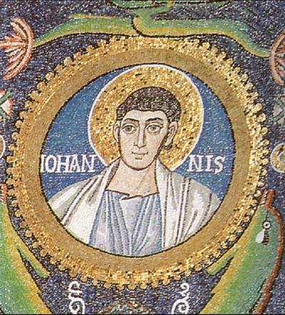 Ravenna, Basilica di San Vitale, Clipeo con San Giovanni