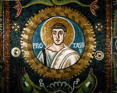 Ravenna, Basilica di San Vitale, Clipeo con San Protasio