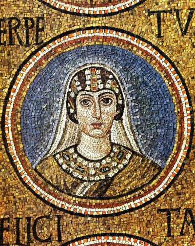 Ravenna, Cappella Arcivescovile, Clipeo con Santa Perpetua