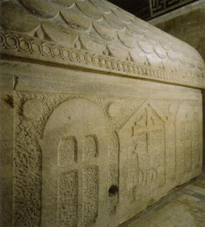 Ravenna, Mausoleo di Galla Placidia, Sarcofago, particolare