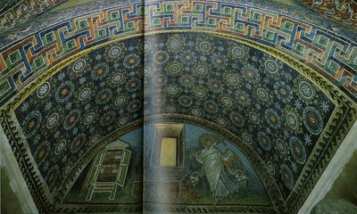 Ravenna, Mausoleo di Galla Placidia, Volta con fiori stilizzati