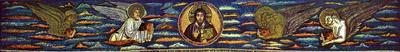 Ravenna, Basilica di Sant'Apollinare in Classe,  Cristo e i quattro evangelisti
