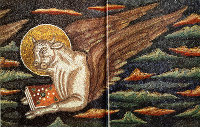 Ravenna, Basilica di Sant'Apollinare in Classe,  Cristo e i quattro evangelisti, particolare