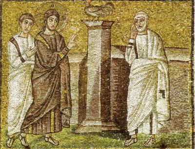 Ravenna, Basilica di Sant'Apollinare Nuovo, Annuncio della negazione di Pietro