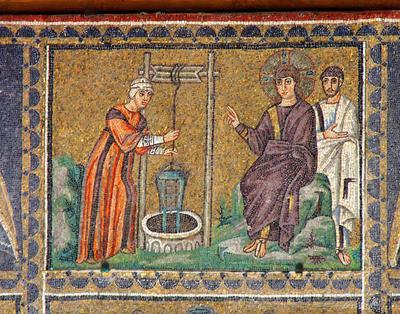 Ravenna, Basilica di Sant'Apollinare Nuovo, La Samaritana al pozzo