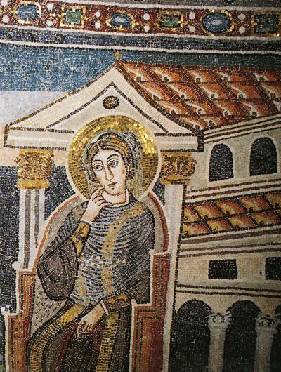 Parenzo, Basilica Eufrasiana, Annunciazione, particolare