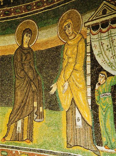 Parenzo, Basilica Eufrasiana, Visitazione, particolare
