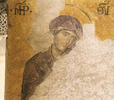 Istanbul, Basilica di Santa Sofia, Deesis, Vergine Maria