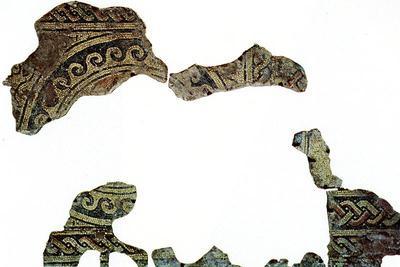 Ravenna, Il cosiddetto Palazzo di Teodorico, Pavimento musivo dell'ambiente S, Medaglione I
